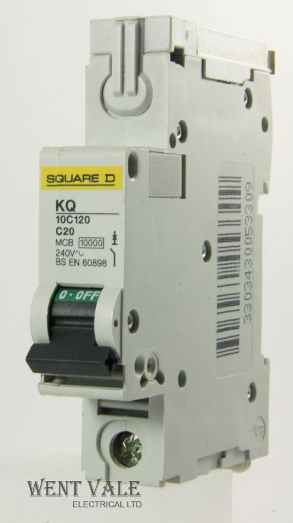 Square D Loadcentre - KQ10C120 - 20a Type C Single Pole MCB Used
